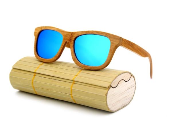 bamboo-framed sunglasses